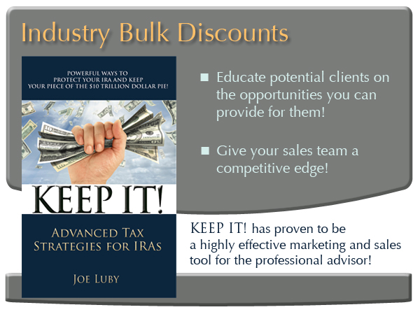 KEEP IT! Advanced Tax Strategies By Joe Luby III